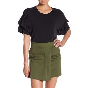 NWT Nordstrom Tiered Ruffle Sleeve Tee Top Blouse